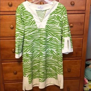 Cute green and white dress from Jude Connally